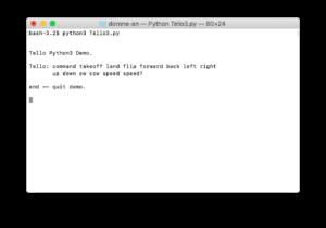python3 terminal tello3