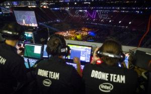 Intel DRONE TEAM と LOVE を作るドローン