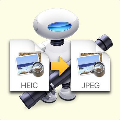 HEIC to JPEG (JPG) Automator.app