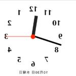 美容室さん・理容室さん向け(?)  逆回転時計を作ってみた